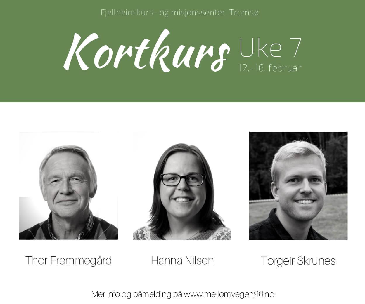 Kortkurs Fjellheim Bibelskole - Uke 7